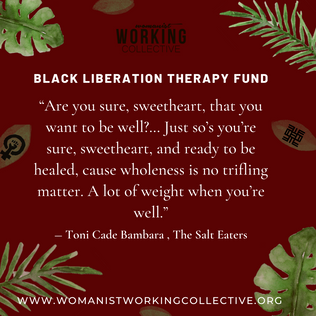 Black Liberation Therapy Scholarship