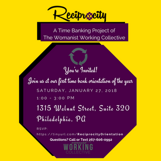 Reciprocity Time Bank Orientation - Members & Community Partners