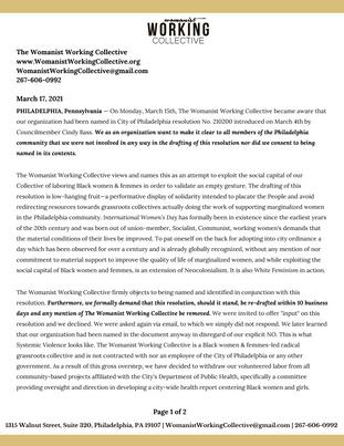 WWC's Official Press Release: #ChooseToChallenge #IWD2021 #EquityOverOptics