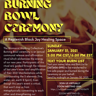 WWC's 4th Annual Burning Bowl Ceremony