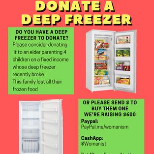 Donate A Deep Freezer
