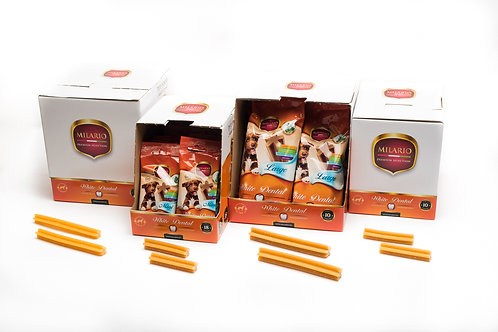 Milario Premium White Dental Stick Box - Mini,Medium,Large