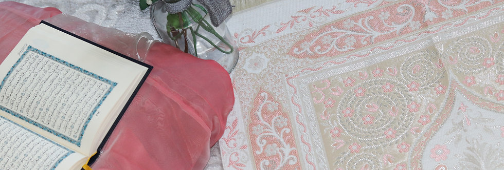Pink Prayer Mat Luxury Janamaz