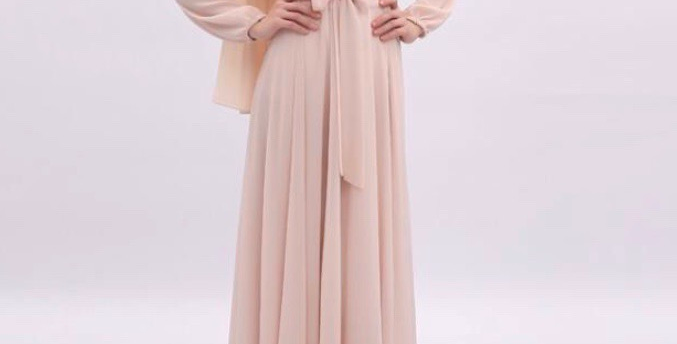 Hala Dress Vanilla Peach