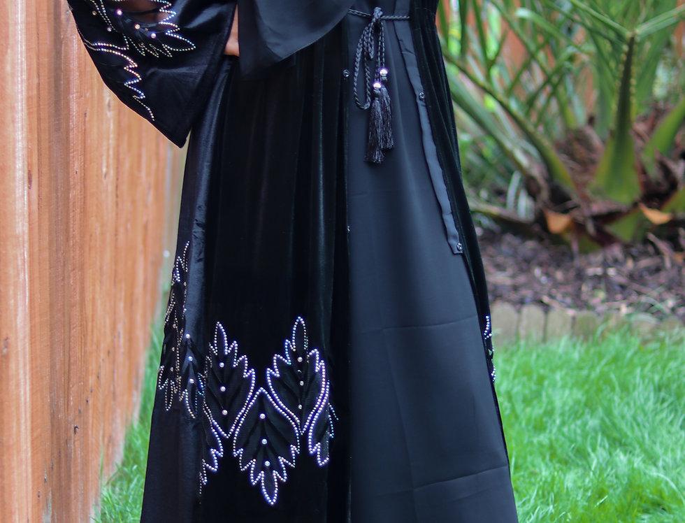 Shabah Velvet Abaya