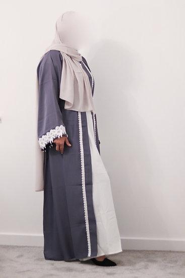 Neha Floral Cuff Abaya