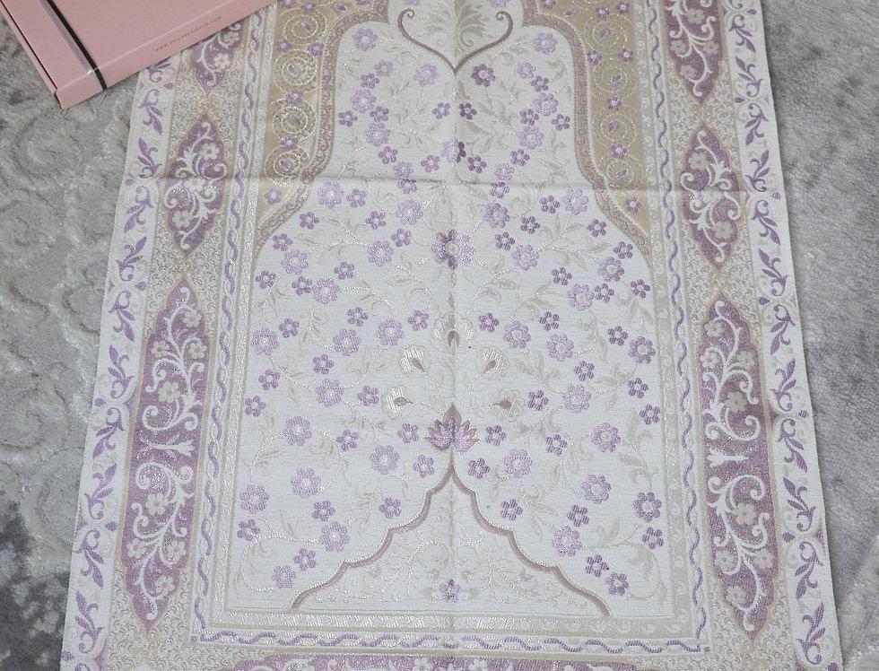 Purple Prayer Mat Luxury Janamaz