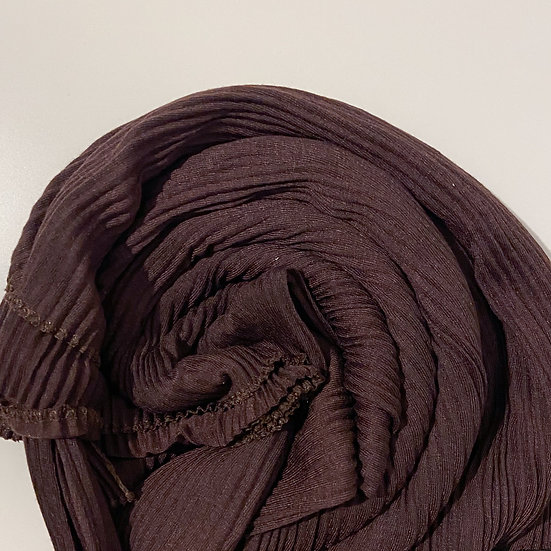 Cocoa Pleated Jersey Hijab
