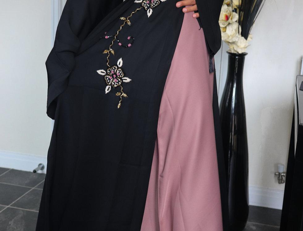 Hadiqa Floral Vine Abaya