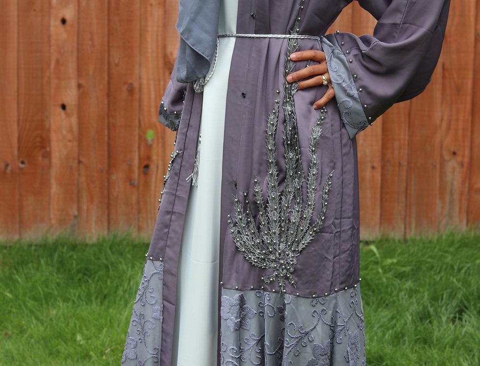 Siyah Platinum Embellished Abaya