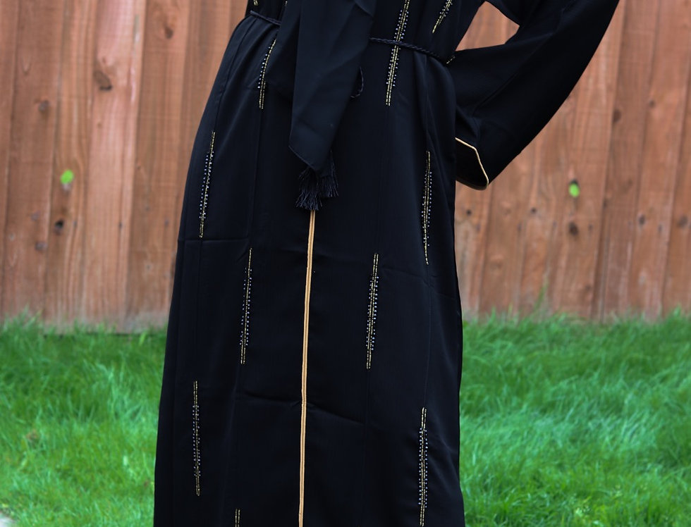 Yalena Linear Gemstone Closed Abaya