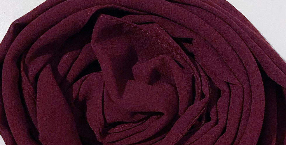 Chiffon Crepe Hijab Burgundy