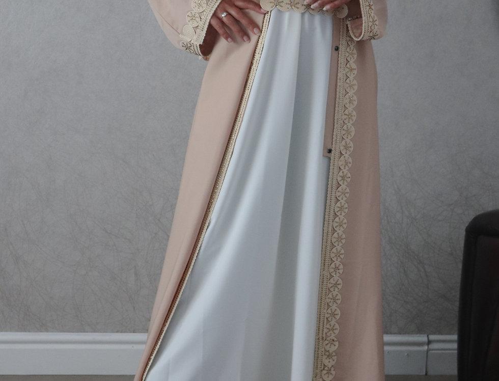 Yara Crochet Trim Abaya