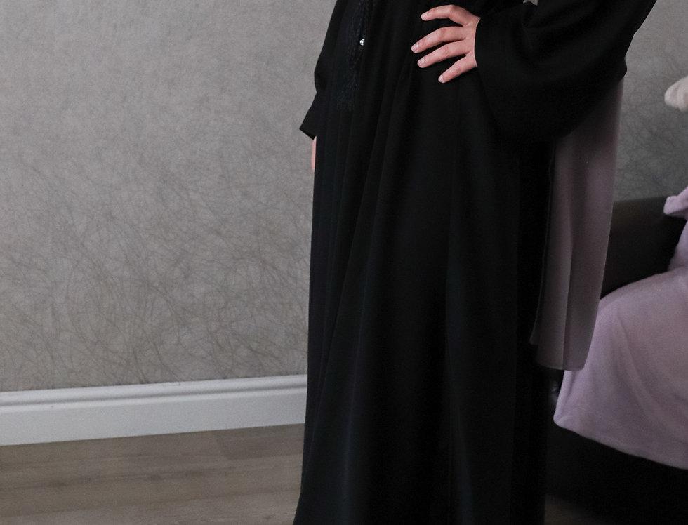 Black Plain Umbrella Abaya