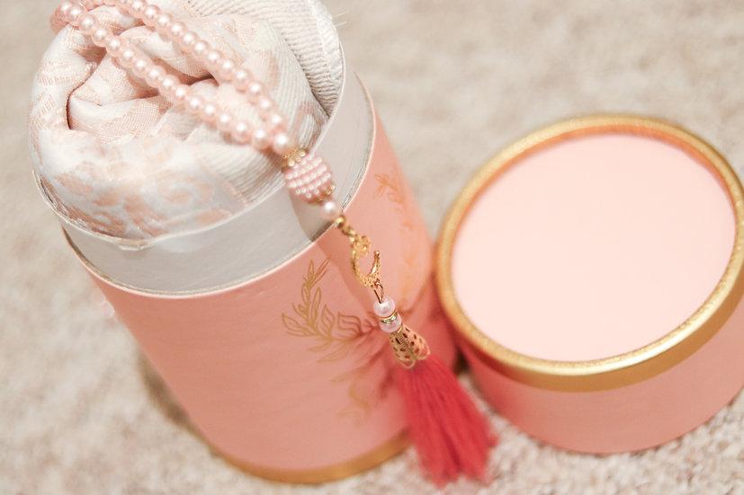 Prayer Mat and Tasbih Set - Pink