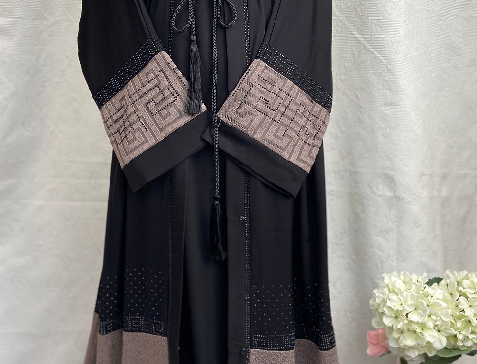 Yameena Contrast Abaya