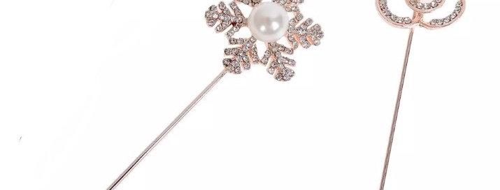 Rose Gold Pearl Hijab Pins