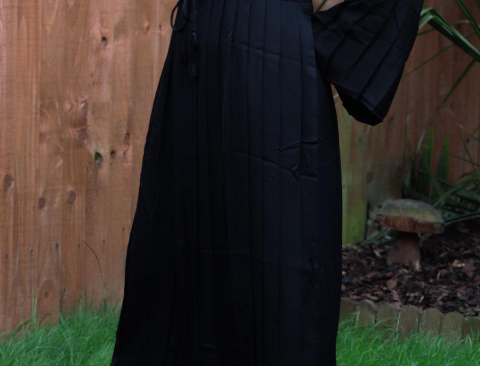 Haya Pleated Skirt Closed Abaya