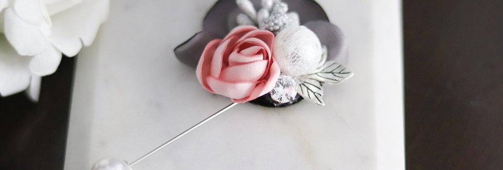 Pink Flower Hijab Pin
