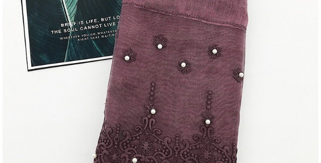 Muted Plum Lace Pearl Hijab