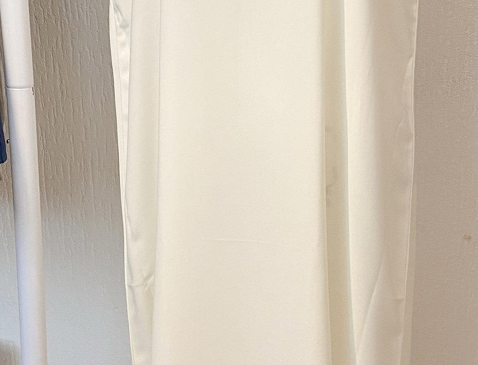 Ivory Sleeveless Abaya Slip Dress