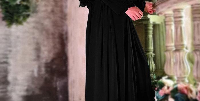 Alima Pleated Waist Dress Black