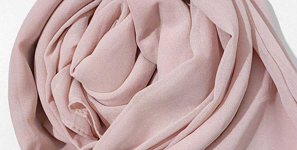Chiffon Crepe Hijab Nude Blush
