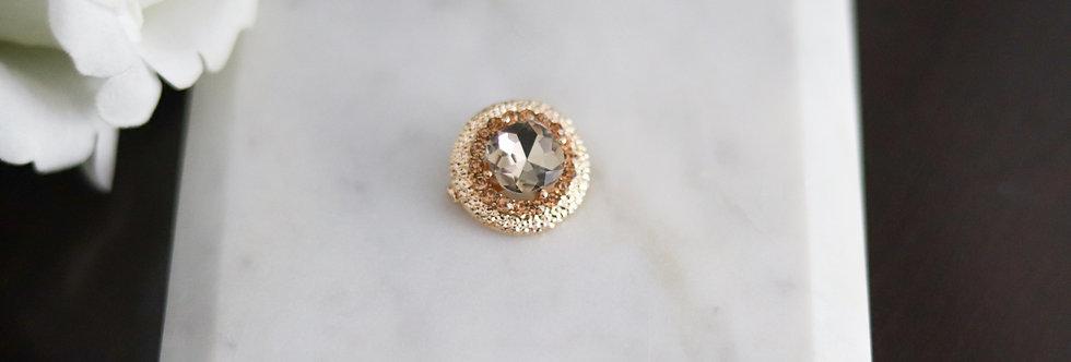 Gold Rhinestone Hijab Pin