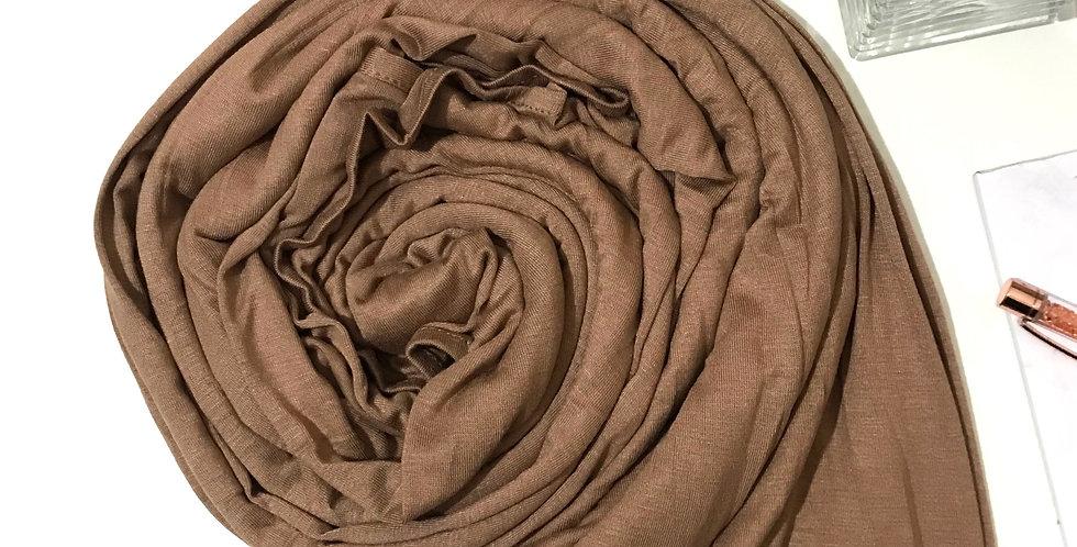 Premium Jersey Hijab Warm Tan