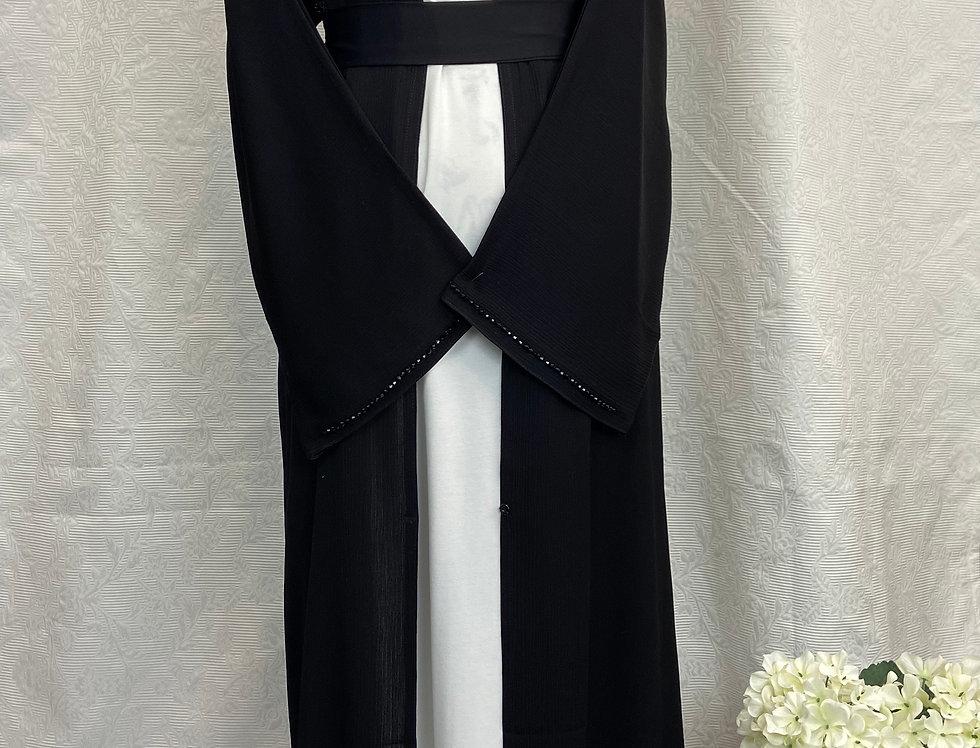Karima Textured Embellished Abaya