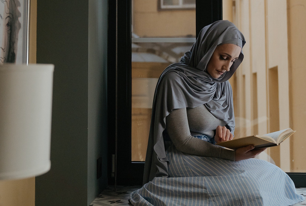 muslimah, reading, islamic reading