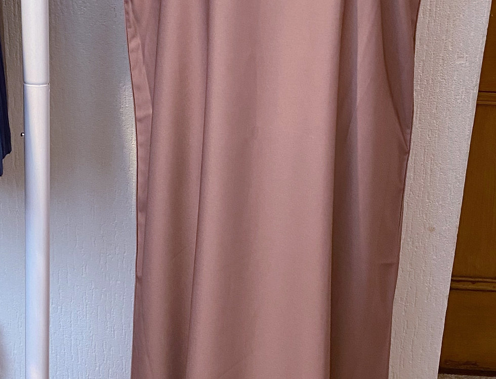 Mauve Sleeveless Abaya Slip Dress