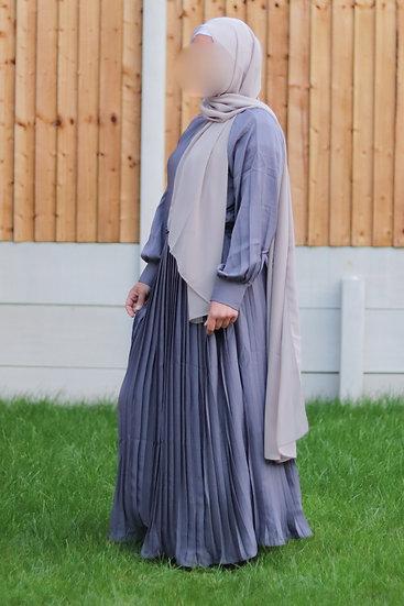 Nahla Pleated Abaya Dress