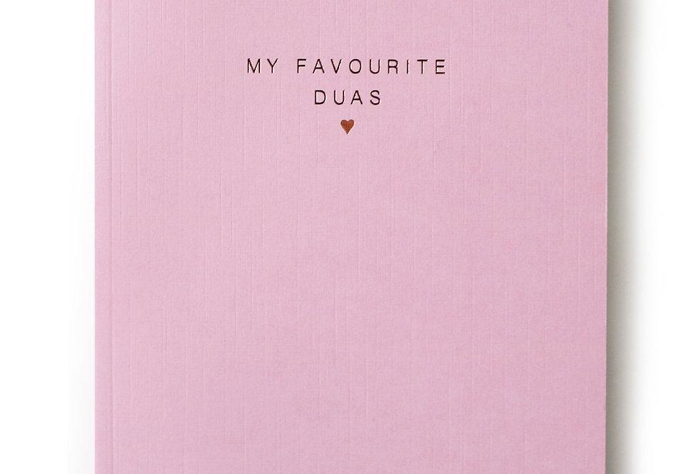 My Favourite Duas Notebook