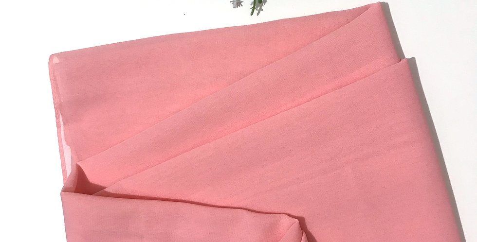 Chiffon Crepe Hijab Pink Lemonade