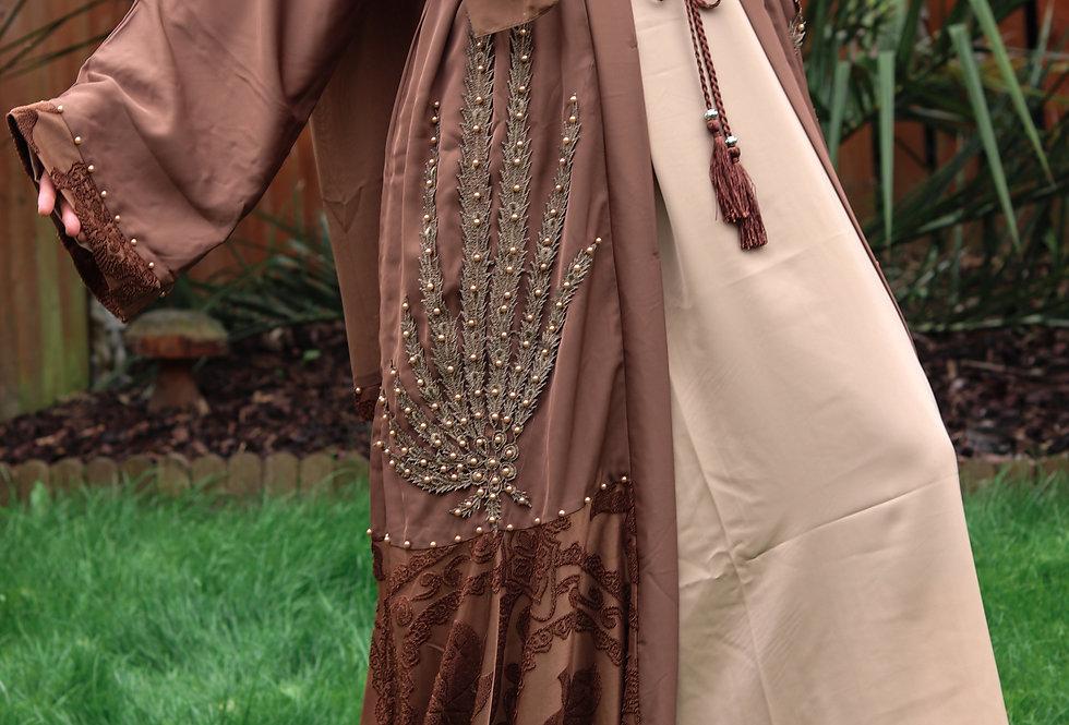Sanaya Bronze Embellished Abaya