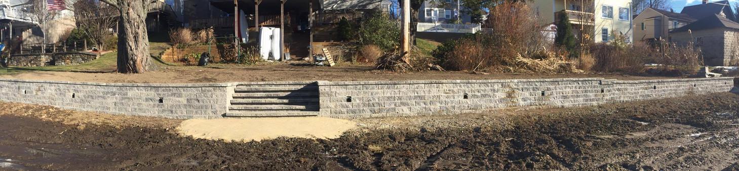 Retaining wall Franklin Ma