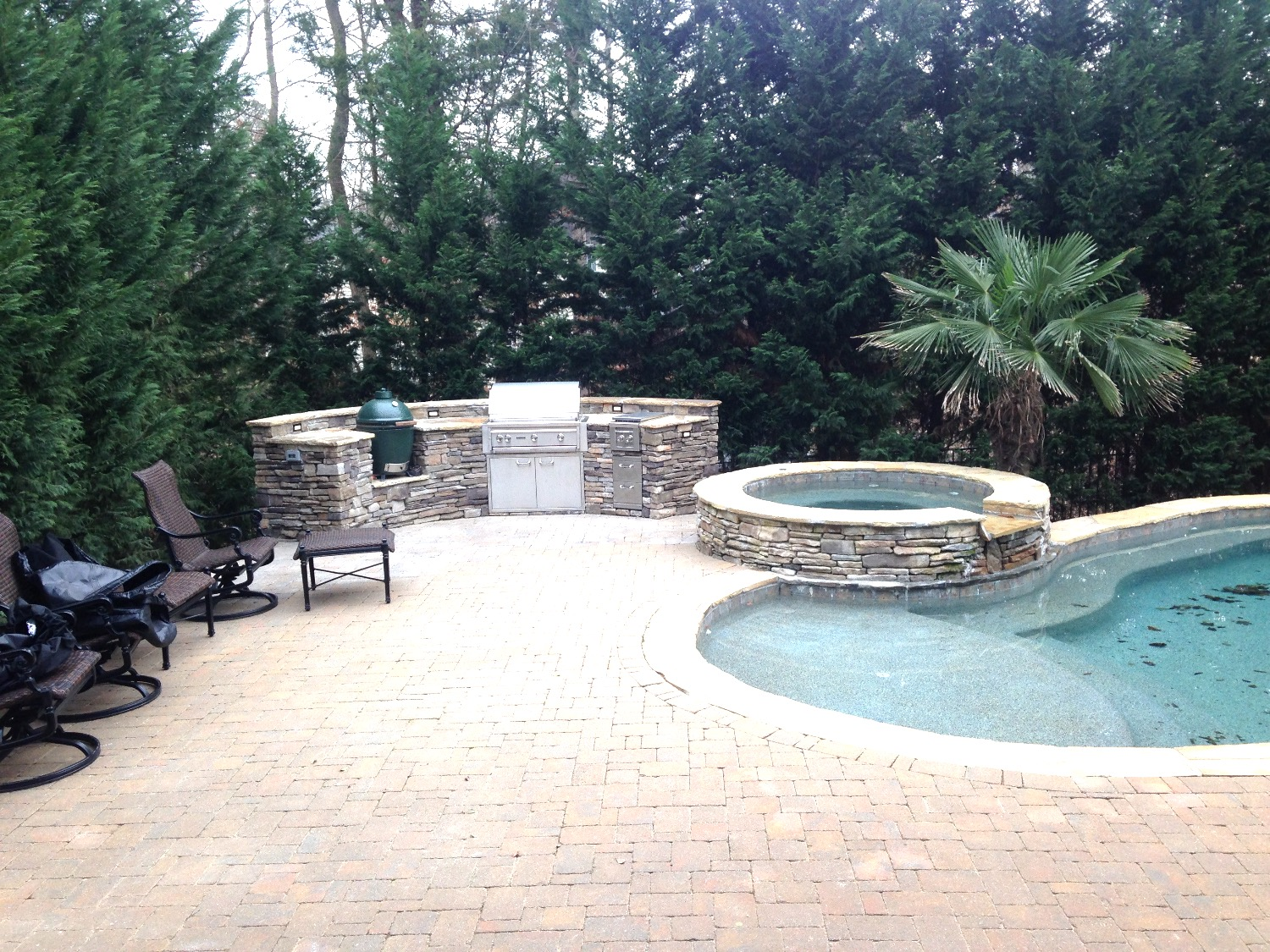 Outdoor grill area- Northstone