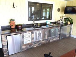 Outdoor kitchen Lake Norman