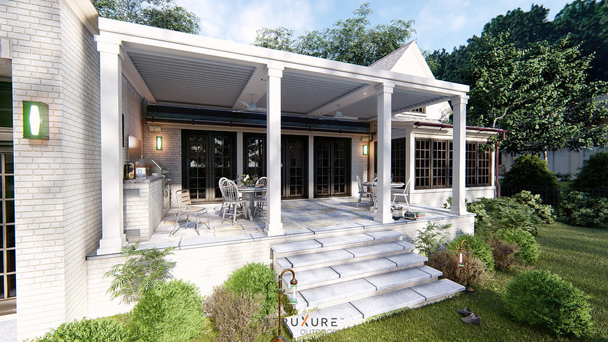 PATIO STRUCTURE_Louvered Pergola Renderi