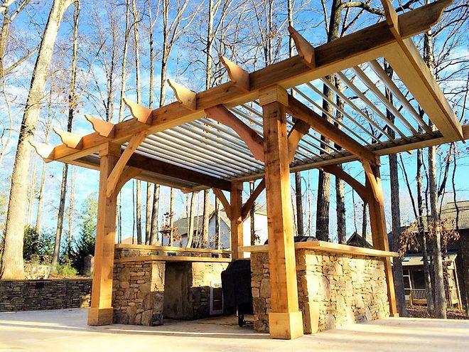Pergola installation in Denver NC,Cornelius NC,Huntersville NC,Davidson NC. Outdoor living company in Lake Norman.