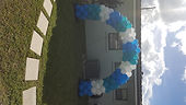 blue and white bollums by worldwide party rental