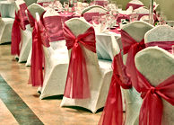 chairs covers and bows