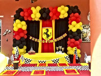 ferrari decoration by Worldwide Party Rental