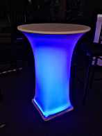 Cocktail table with light