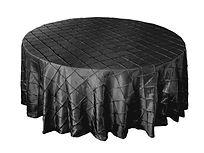 Black round tablecloths 120 rd