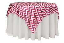 white round tablecloth and red and white overlay