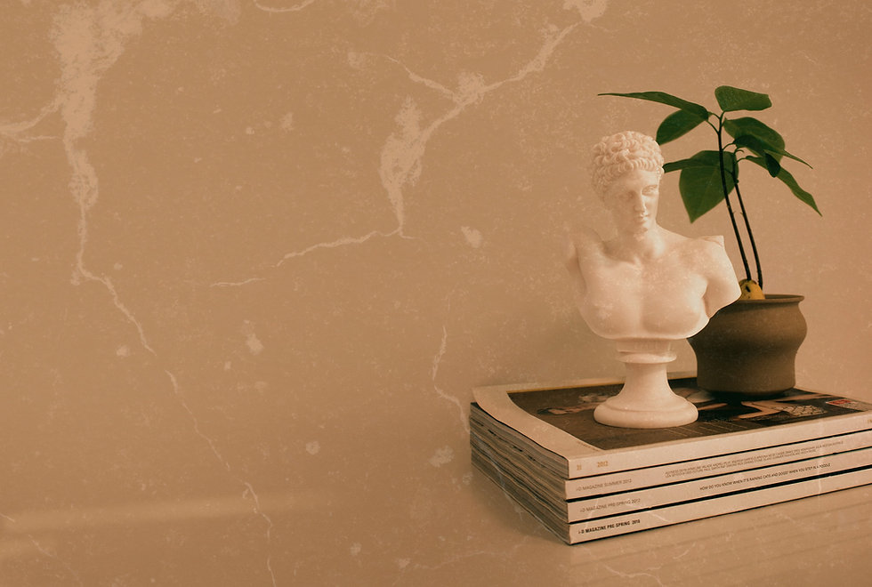 sculpture on four books