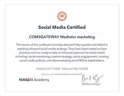 Hubspot academy certificate.png