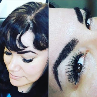 Brow Henna With Volume Eyelash Extensions